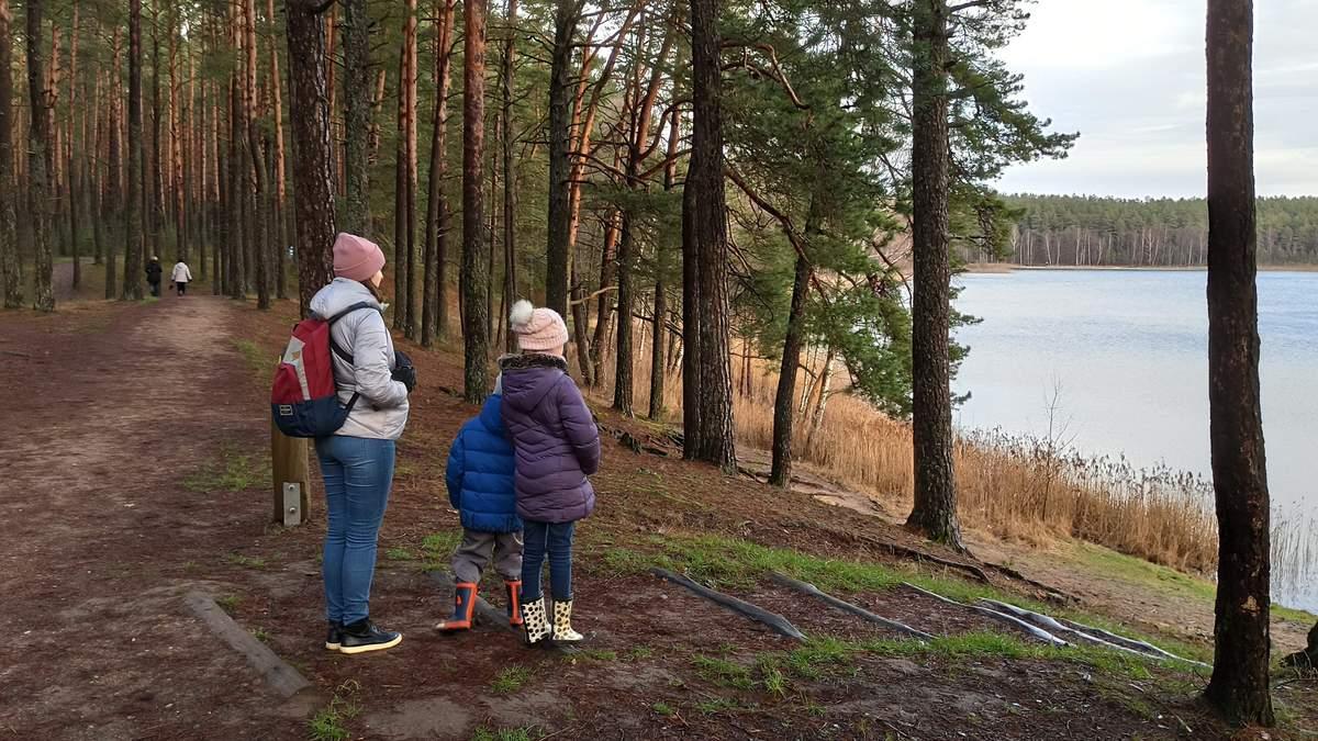 Анна Гармаш с детьми в Вильнюсе