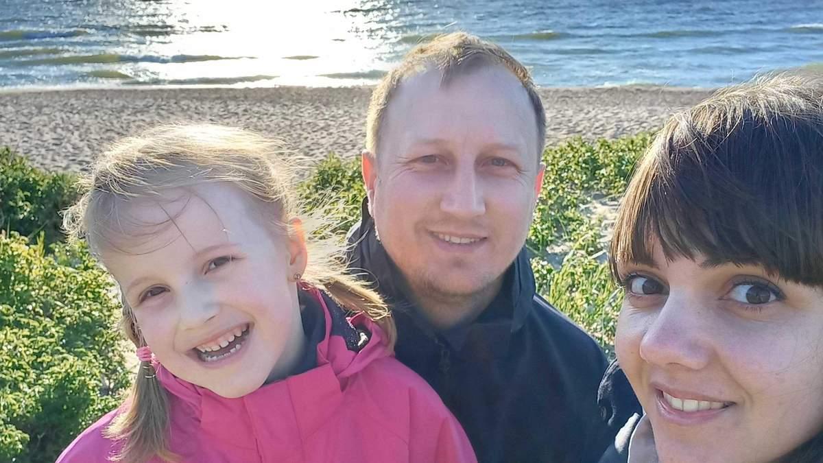 Ірина Воляк з чоловіком та донькою