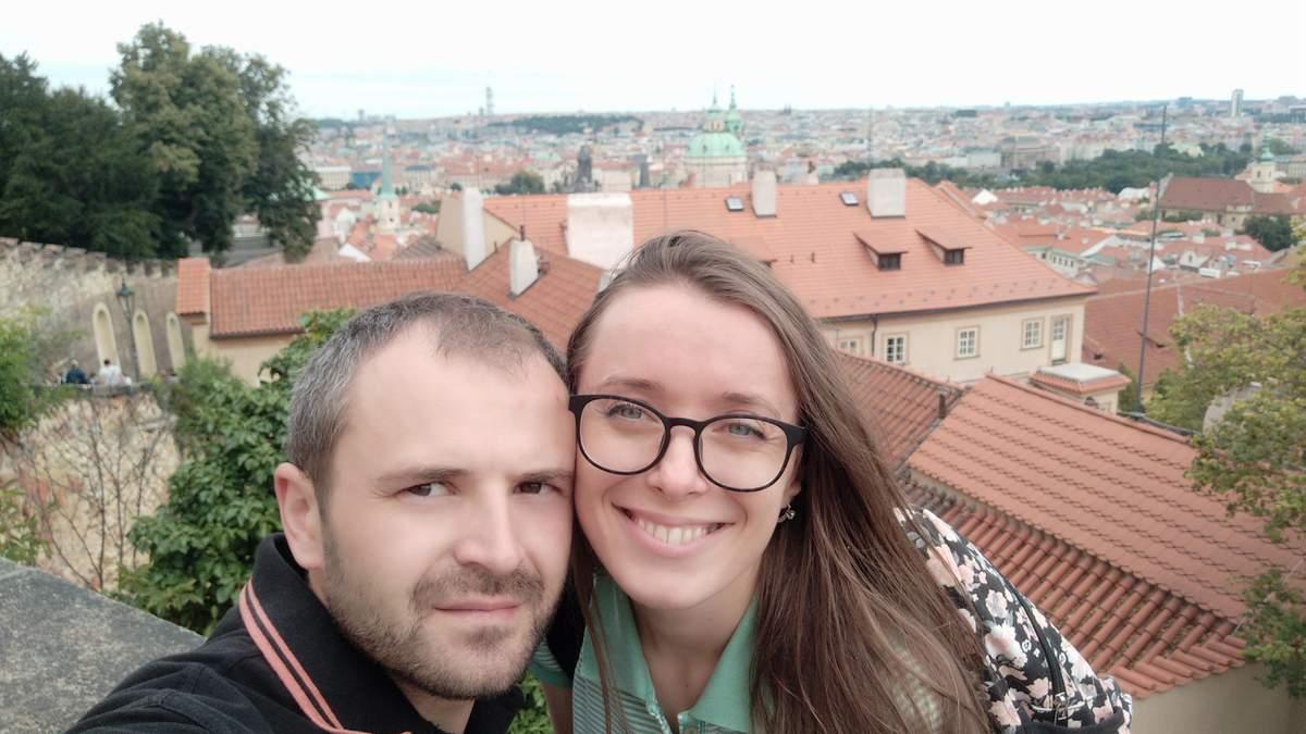 Василина Галын с мужем Марьяном