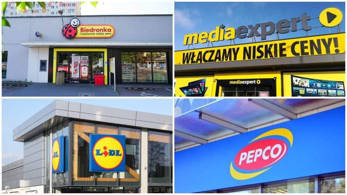 Зарплати у популярних мережах Польщі