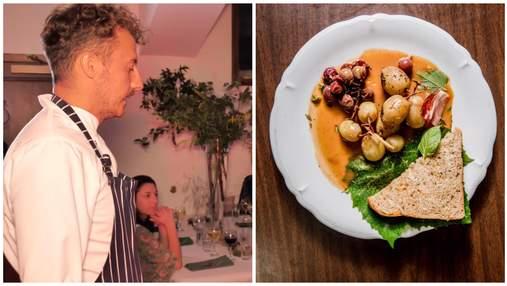 Клопотенко удивил американцев на званом ужине: приготовил крокодила под соусом из пчел