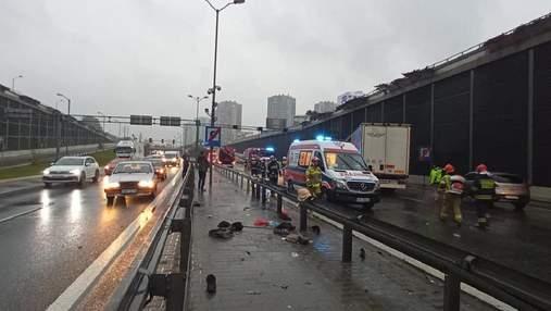 Водитель грузовика из Украины въехал в стену тоннеля в Польше: жуткие фото